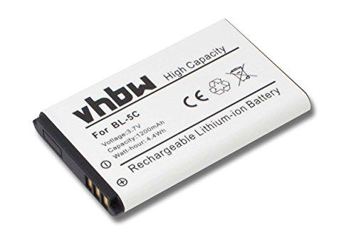 vhbw Akku 1200mAh (3.7V) für schnurlos Festnetz Telefon ALCATEL 3BN67330AA 8232 8232 DECT, MITEL 5610, NEC G355 wie RTR001F01, 10000058.