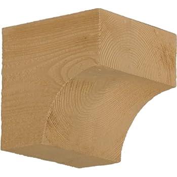 Fypon BKT12X20X3S 3 1//2W x 20H x 12P Timber Texture Bracket