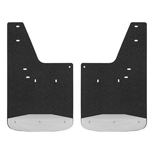LUVERNE 250930 Front Textured Rubber Mud Guards Black 12-Inch x 20-Inch Select Dodge, Ram 1500, 2500, 3500 (Textured Front Flap)