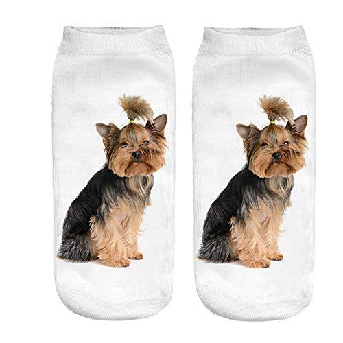 VJGOAL Unisex moda casual Divertido perro 3D Impreso Calcetines ...