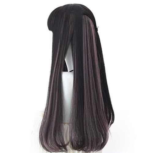 Wig Female Long Straight Hair Micro-roll Full Head