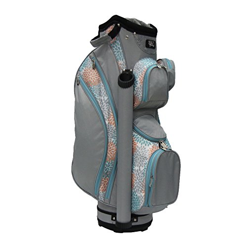 (RJ Sports Lb-960 Ladies Cart Bag with 3pk Head Covers, Coral/Grey, 9