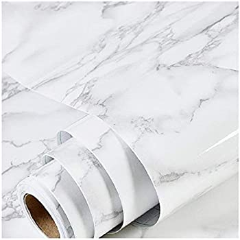 Marble Wallpaper Granite Paper for Old Furniture Self Adhesive and Removable Cover Surfaces 17.71 inch x 78inch Marble Paper Peel and Stick Easy to Apply