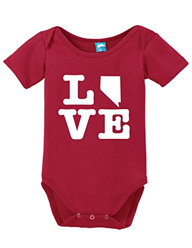 Nevada Love Printed Infant Bodysuit Baby Romper Red 3-6 - Nevada Casino Laughlin
