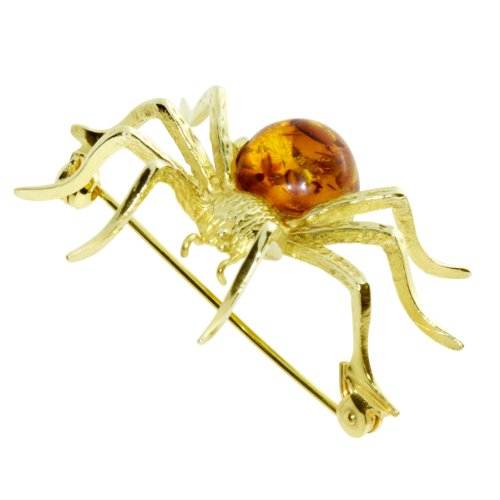 In Collections - 0010133040100 - Broche Femme - Or Jaune 333/1000 (8 Cts) - Ambre