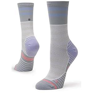 Stance Women's Fusion Athletic Beta Crew Height Socks Medium (shoe size 8-10.5) (Violet)