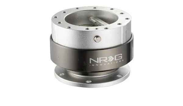 NRG Steering Wheel Quick Release Hub Quick Lock SIlver Finish