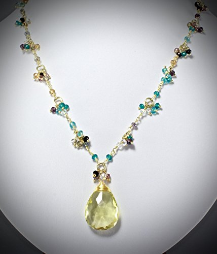 (Lemon Quartz, Fine Gemstones and Vermeil Necklace)
