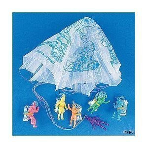 Fun Express Vinyl Paratroopers Assortment Action Figure (4-Pack of 72)