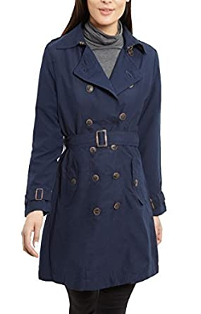 9487108743576 NEW Women s CANVAS MAC Ladies TRENCH JACKET COAT Camel NAVY Size 8 10 12 14  16