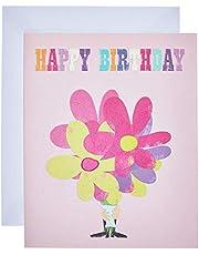 The Art File ARTIP132 Happy Birthday Flowers Card