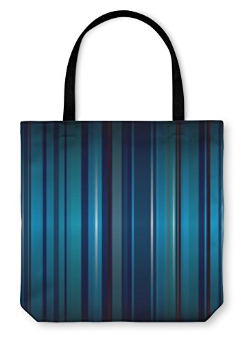 Gear New Shoulder Tote Hand Bag, Wallpaper Stripe Cool, 16x16, 1745745GN Cobalt Wallpaper