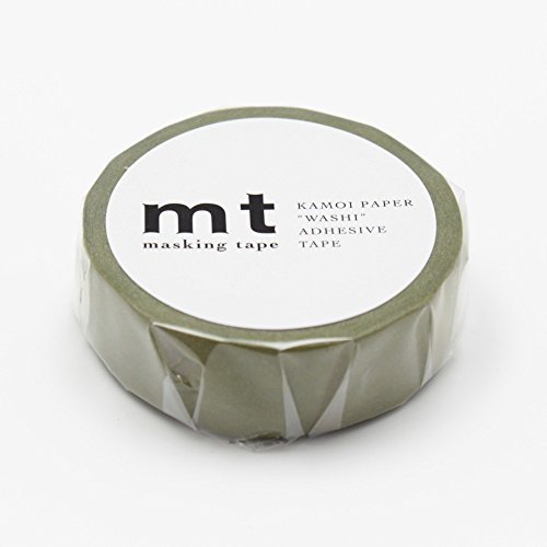 "MT Solids Washi Paper Masking Tape: 3/5""x33' / Uguisu, Nightingale (MT01P201)"