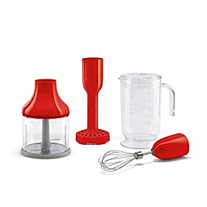 Smeg HBAC01RD Accessory Set for HBF01 50's Retro Style Hand Blender, Red 11