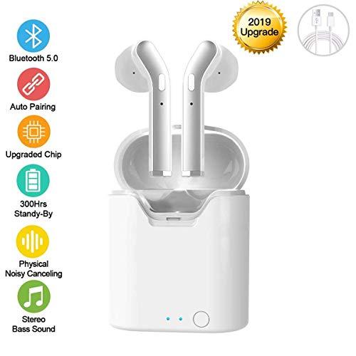 Botee Bluetooth 5.0 Ohrhörer Wireless Headsets, 2019 New Version Wireless Earbuds mit Mikrofon, In-Ear-Ohrhörer, automatische Kopplung, wasserdicht, Hi-F-Stereo-Ohrhörer