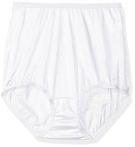 Shadowline Women's Panties-Nylon Brief (3 Pack), White, ()