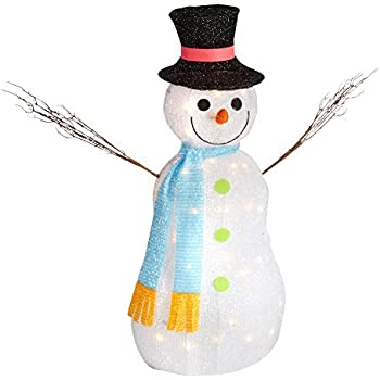 Amazon nantucket home light up tinsel snowman with twig arms nantucket home light up tinsel snowman with twig arms scarf and tophat indoor outdoor mozeypictures Choice Image