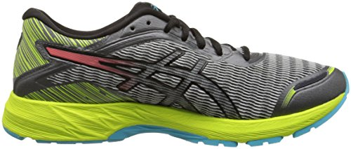 ASICS Women's Dynaflyte Running Shoe Mid Grey/Flash Coral/Safety Yellow