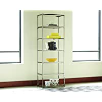 Coaster 801017 Home Furnishings Bookcase, Black Nickel