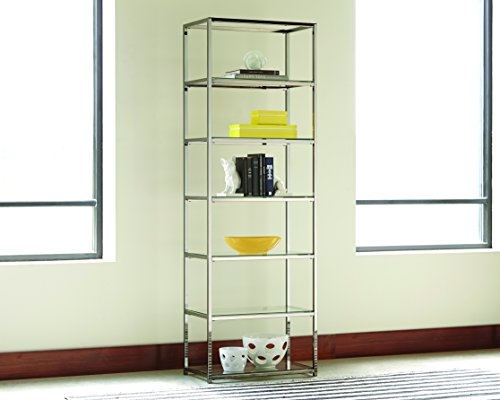 Metal Bookcase with 6 Shelves