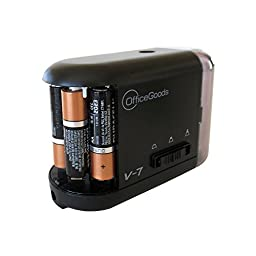 OfficeGoods Electric & Battery Operated Pencil Sharpener for Home Office & School, Sharpens Evenly Every Time, Great for Everyone that Wants the Perfect Point (Black)