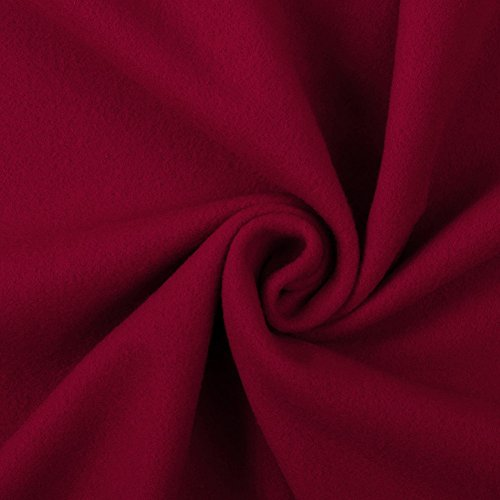 Italian Red Wool/Cashmere (Italian Cashmere Fabric)