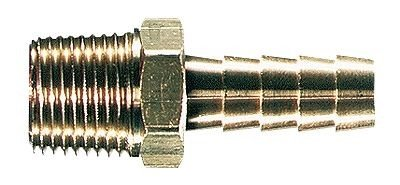 Cole-Parmer Threaded Adapter, Brass, 1/8'' NPTM x 1/4'' tubing ID, 50/Pack