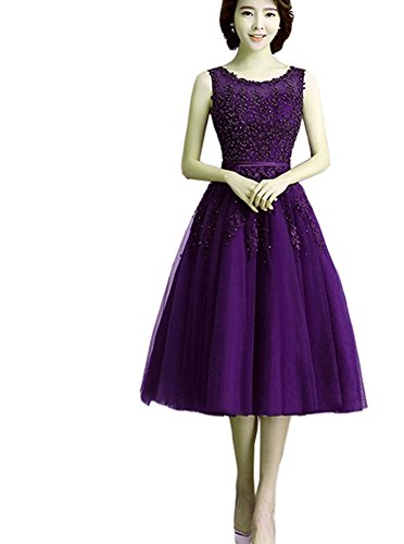 Lila Hochzeit Rosa Abendkleider Medium ärmellos Violett kleidungstücke Kleider Länge Net Cocktail Damen Damen New Ball emmani Celebrity Weiblich Party Abend Heimkehr Garn Dark Blau xq0SppYa
