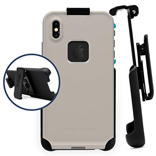 Belt Clip Holster Compatible with LifeProof FRE - iPhone Xs MAX ONLY   Easy Fit   Slim Design   Built in Kickstand [case not Included]
