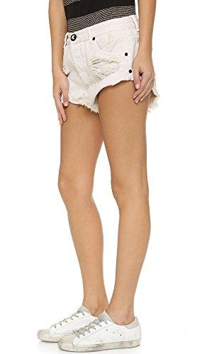 One Teaspoon Women's Worn White Bandit Shorts, Worn White, 24 by One Teaspoon (Image #3)