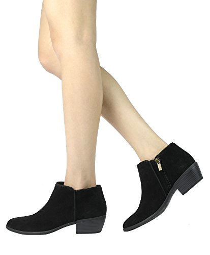 Booties TOETOS Black Ankle High Women's Fashion xvwgTIrv