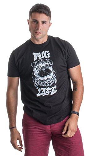 PUG LIFE   Funny Pug Owner, Dog Lover Thug Life Spoof Humor Unisex T-shirt