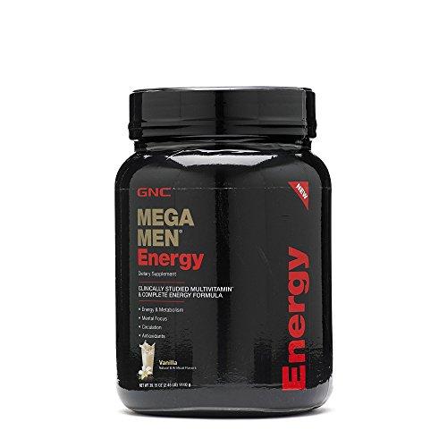 GNC Mega Men Energy, Vanilla, 2 - Powder Mega Protein