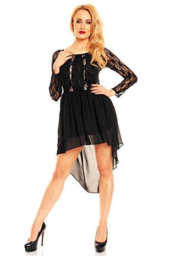 1a858149c6b ... Festkleid Partykleid Vokuhila Sommerkleid Abendkleid Mayaadi  Spitzenkleid Cocktailkleid Kleid Schwarz-beige Hs-316 ...