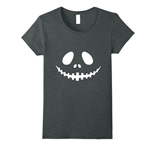 Womens Seasonal Ts: Halloween Party Idea Costume Jack O' Lantern T- Medium Dark Heather