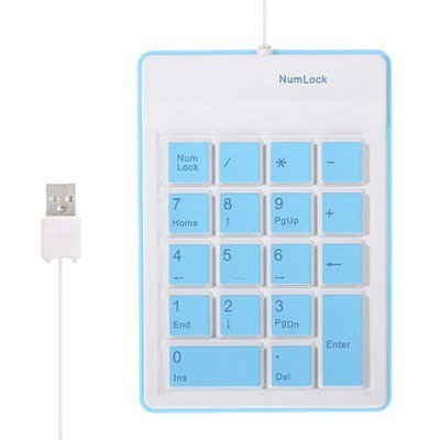 Mini Silicone 18 Key Number Keyboard Pad with Retractable USB Cable Foldable Soft Waterproof Roll Up Silica Gel Computer Desktop Keyboard for PC Laptop Notebook - Rollup Calculator