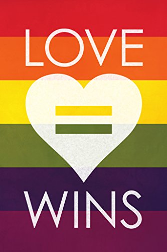Love Wins Rainbow Art Print Poster 12x18 (Sapphic Art)