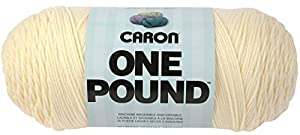 Caron One Pound Yarn, 16 Ounce, Cream, Single Ball