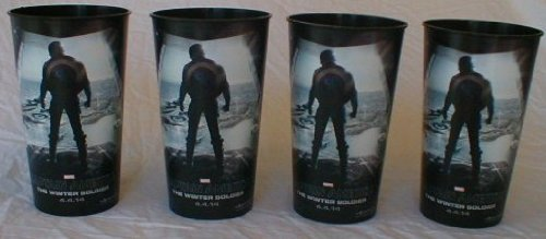 Captain America Winter Soldier Theater Exclusive Promotional 44 oz Plastic Cup Set