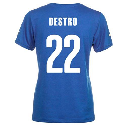 ギャングコンペ花婿Puma DESTRO #22 Italy Home Jersey World Cup 2014 (Women)/サッカーユニフォーム イタリア ホーム用 ワールドカップ2014 背番号22 デストロ レディース