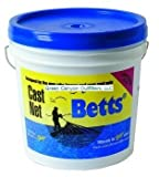 Betts 18-9 Professional Series Mullet Mono Cast Net, 9-Foot Length, 1-Inch Mesh, Clear Finish