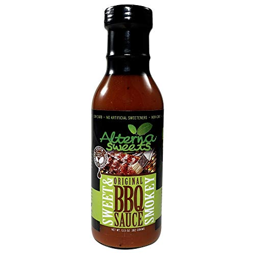 AlternaSweets Sweet & Smokey BBQ Sauce - 13.5 oz - Stevia Sweetened - Low Carb -...