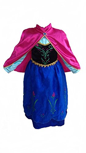 [Deluxe Inspired Princess Anna Dress. (3-4 Years) by FashionModa4U] (Baby Anna Costumes Frozen)