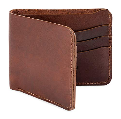 Jackson Wayne Full Grain Leather Bifold Wallet Multi-Card Holder (Vintage Brown) ()