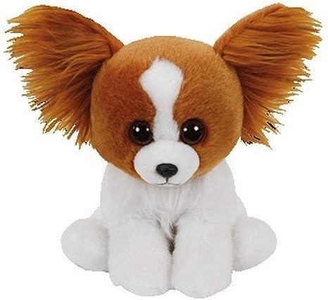 TY Peluche de Bark, color marrón, 15 cm, peluche Glubschis