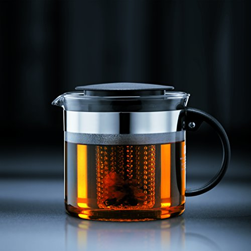 -[ Bodum Bistro Nouveau Tea Press, Borosilicate Glass, Plastic Infuser - 1.5 L, Black  ]-