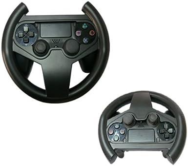 GAMINGER Volante para control Dualshock de PlayStation 4 PS4 Sony - Juegos de movimiento de control - Perfecto para JUEGOS DE CARRERAS: Amazon.es: Videojuegos