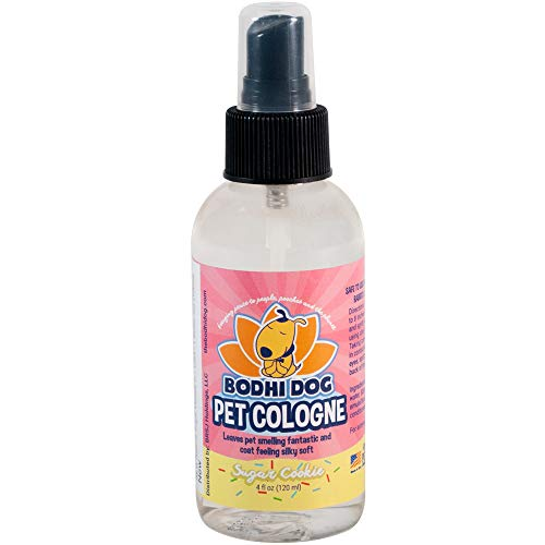 Natural Pet Cologne | Cat & Dog Deodorant and Scented Perfume Body Spray | Clean and Fresh Scent | Natural Deodorizing & Conditioning Qualities | Made in USA - 1 Bottle 4oz (120ml) (Sugar Cookie)
