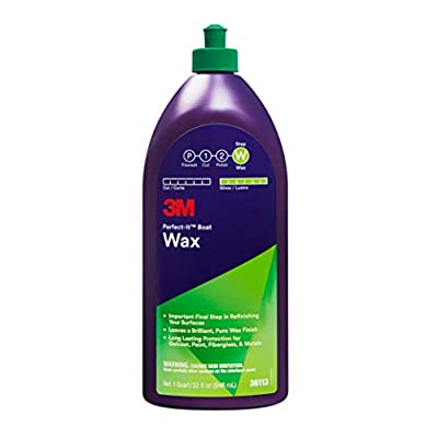 3M Perfect-It Boat Wax (36113) – For Boats and RVs – 1 Quart,White: Automotive