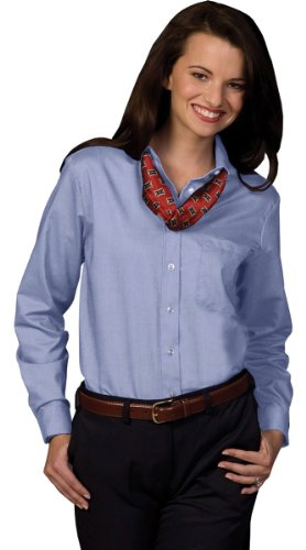 Edwards Oxford Dress Shirt (Edwards Garment Women's Easy Care Long Sleeve Oxford)